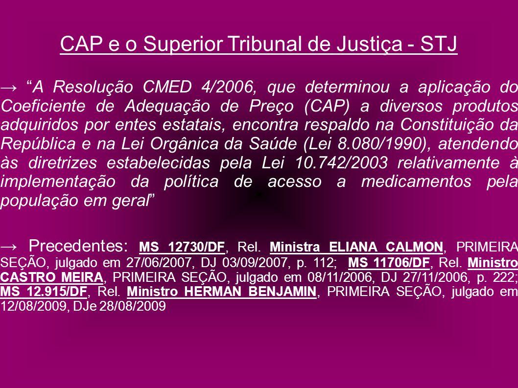 CAP e o Superior Tribunal de Justiça - STJ