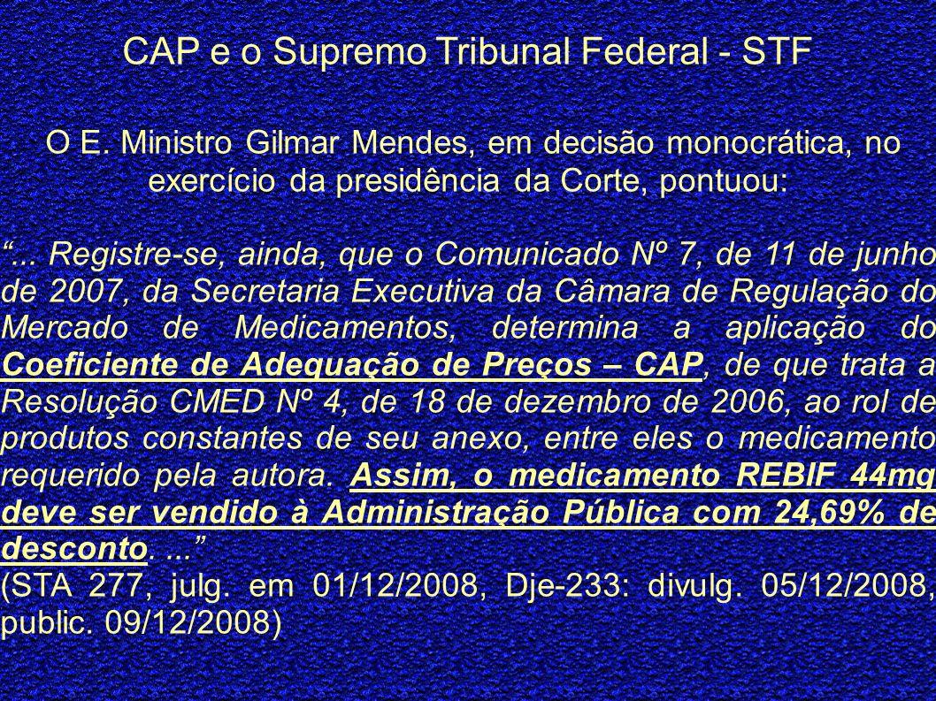 CAP e o Supremo Tribunal Federal - STF