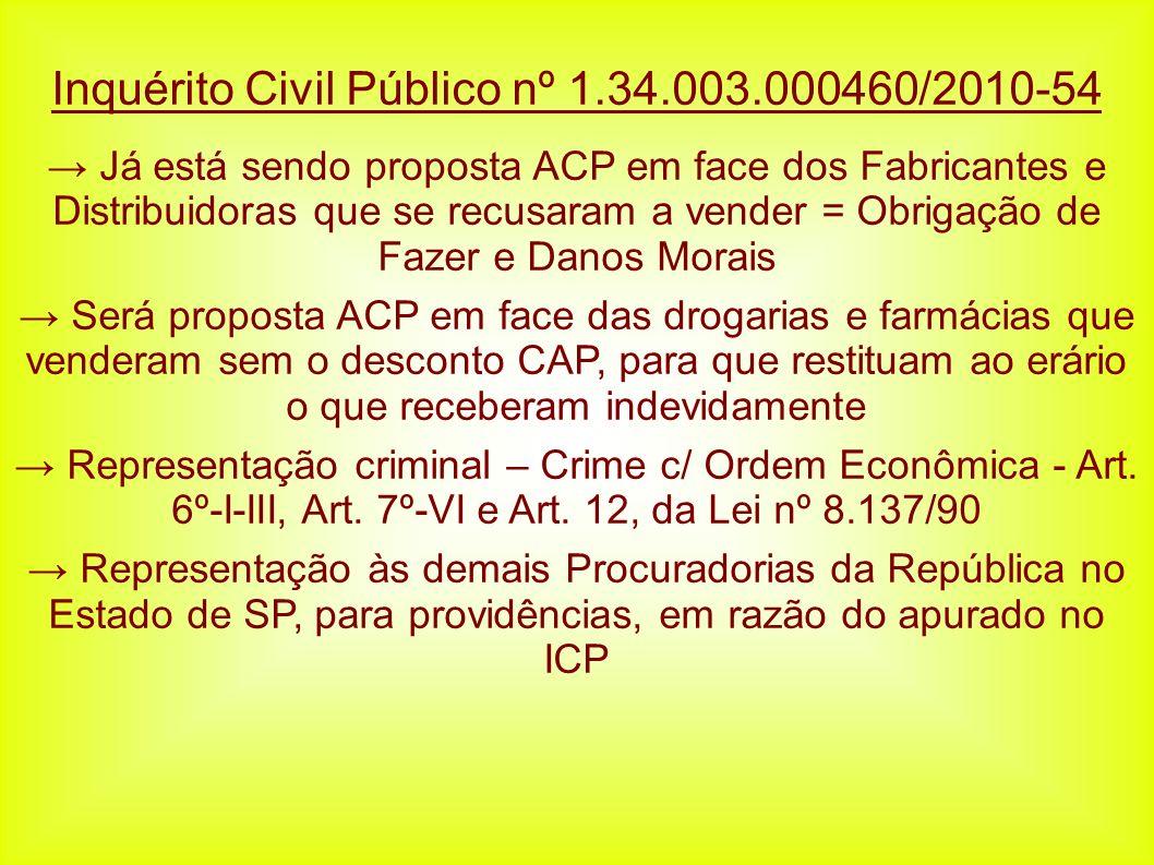 Inquérito Civil Público nº 1.34.003.000460/2010-54