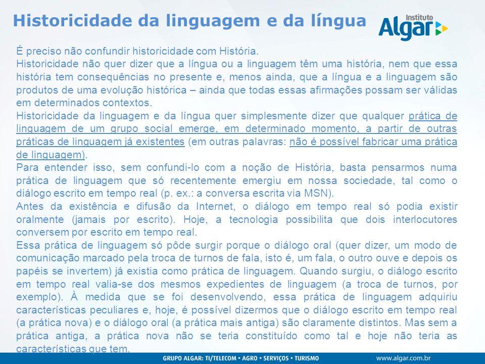 Historicidade da linguagem e da língua