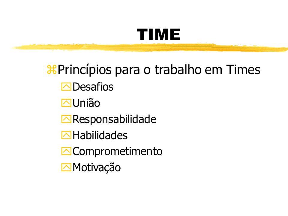 TIME Princípios para o trabalho em Times Desafios União