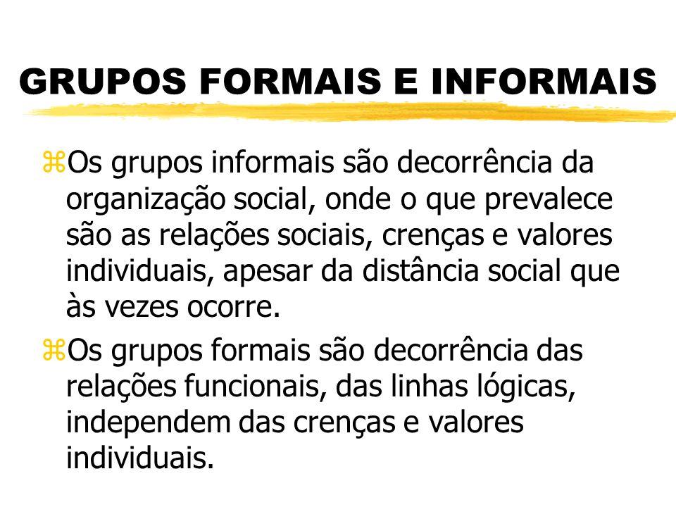 GRUPOS FORMAIS E INFORMAIS