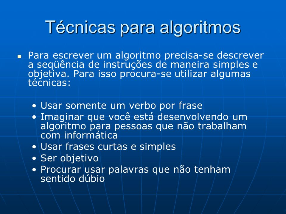 Técnicas para algoritmos