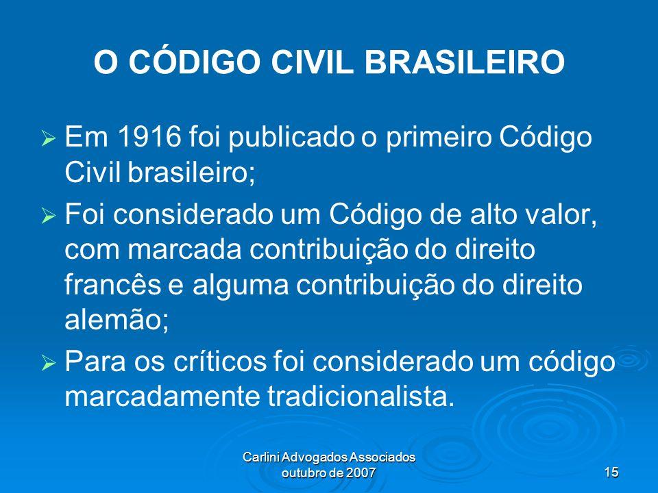 O CÓDIGO CIVIL BRASILEIRO
