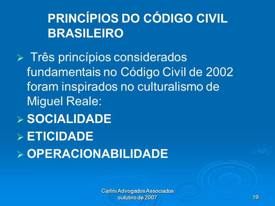 PRINCÍPIOS DO CÓDIGO CIVIL BRASILEIRO