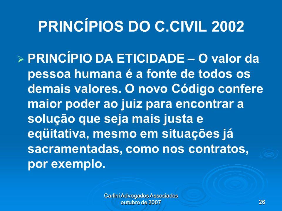 Carlini Advogados Associados outubro de 2007