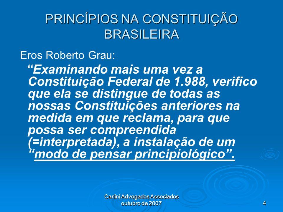PRINCÍPIOS NA CONSTITUIÇÃO BRASILEIRA