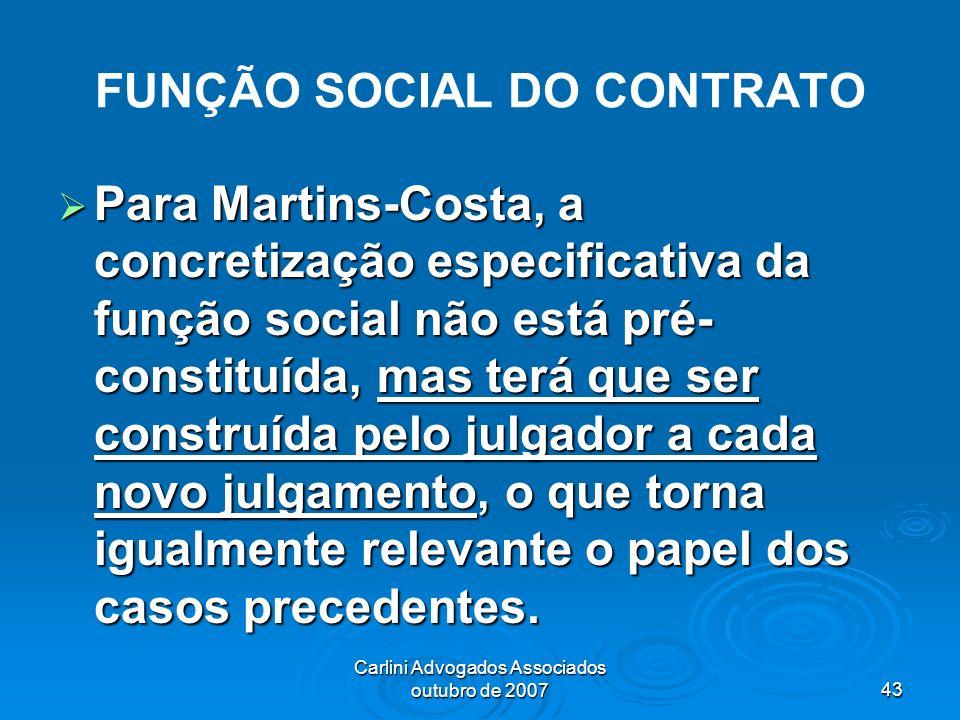 FUNÇÃO SOCIAL DO CONTRATO