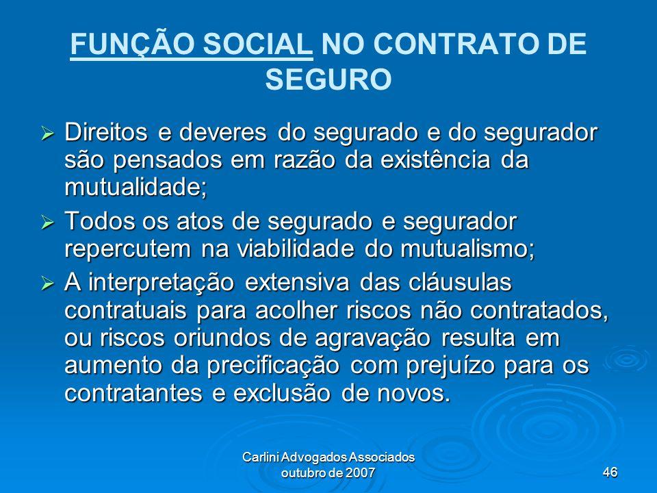 FUNÇÃO SOCIAL NO CONTRATO DE SEGURO