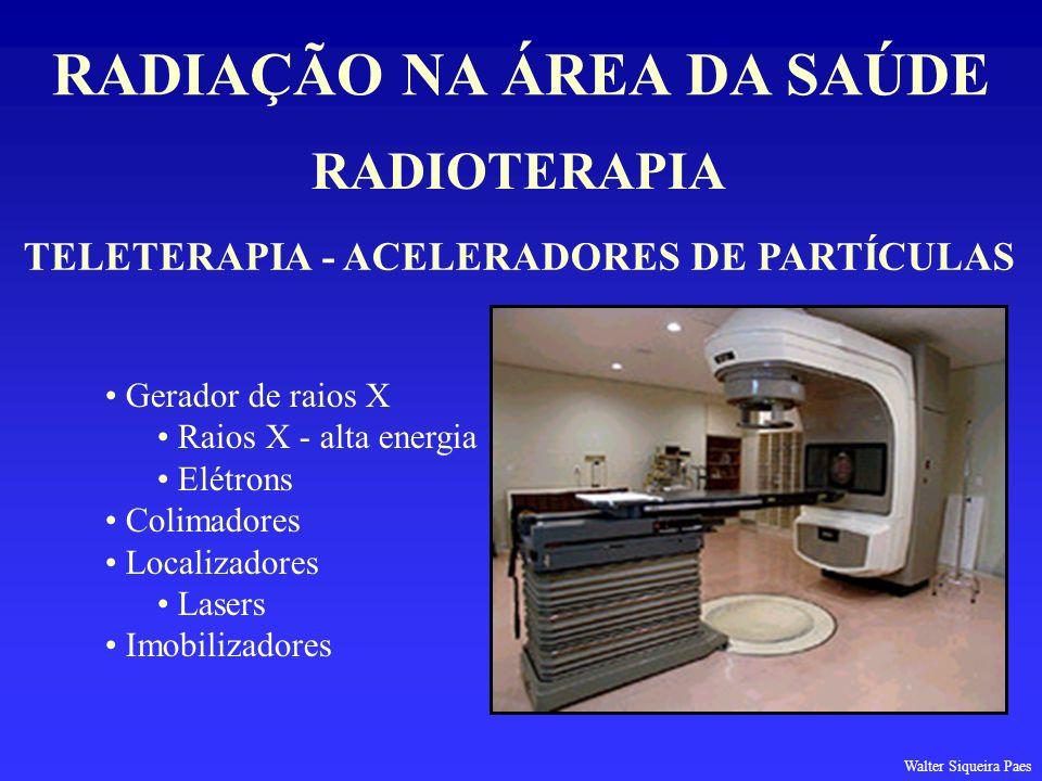 RADIAÇÃO NA ÁREA DA SAÚDE TELETERAPIA - ACELERADORES DE PARTÍCULAS