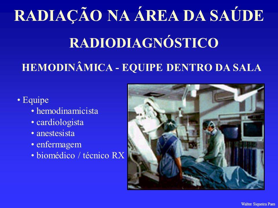 RADIAÇÃO NA ÁREA DA SAÚDE HEMODINÂMICA - EQUIPE DENTRO DA SALA