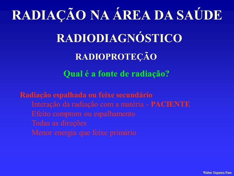 RADIAÇÃO NA ÁREA DA SAÚDE Qual é a fonte de radiação