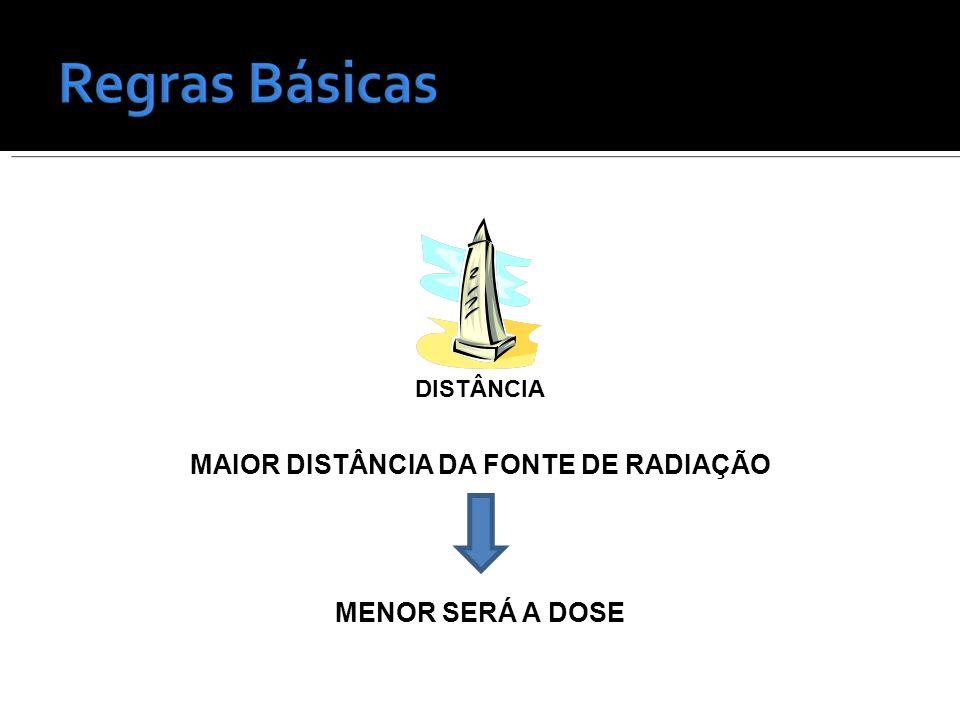 MAIOR DISTÂNCIA DA FONTE DE RADIAÇÃO