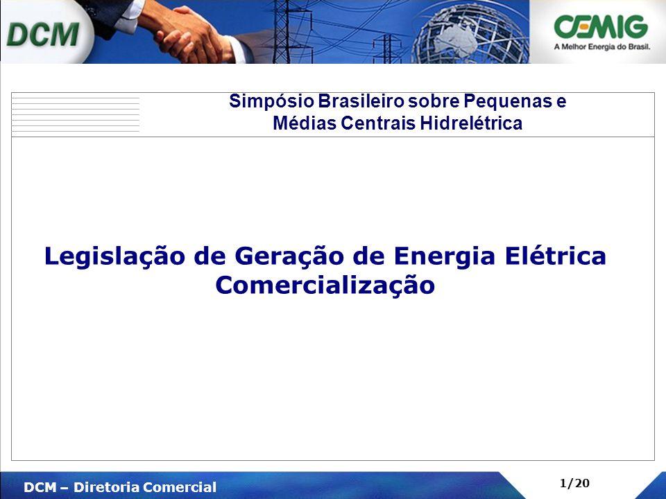 Legislação de Geração de Energia Elétrica Comercialização