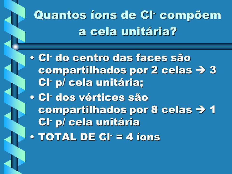 Quantos íons de Cl- compõem a cela unitária