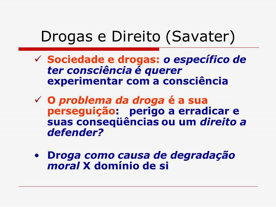 Drogas e Direito (Savater)