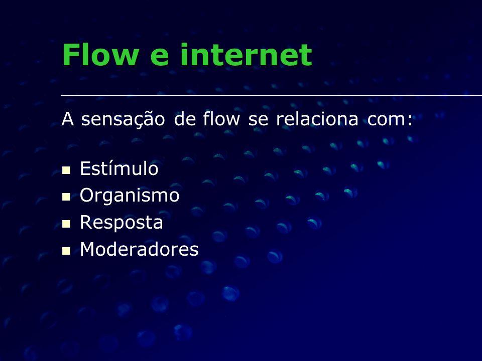 Flow e internet A sensação de flow se relaciona com: Estímulo