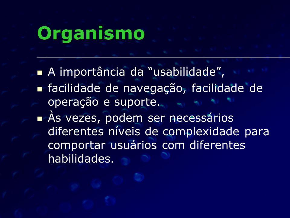 Organismo A importância da usabilidade ,