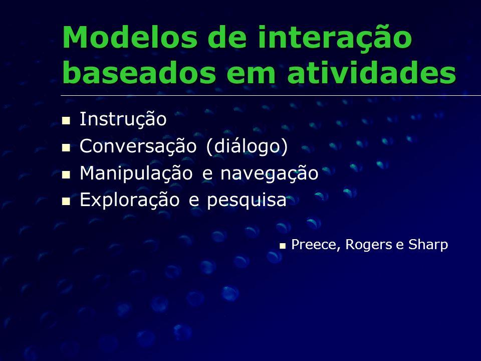 Modelos de interação baseados em atividades