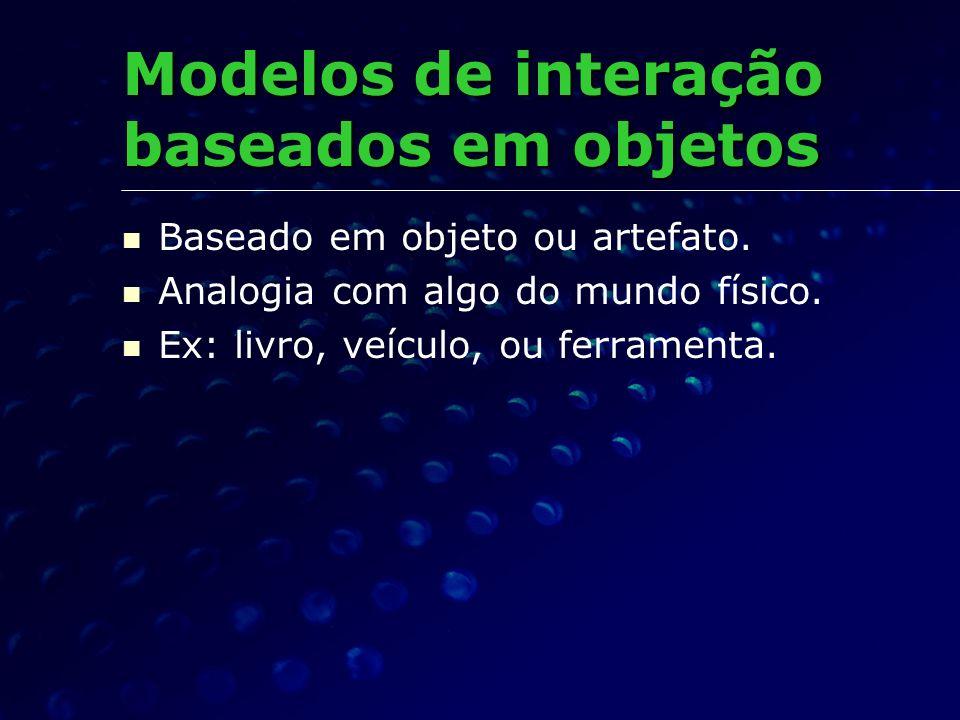 Modelos de interação baseados em objetos