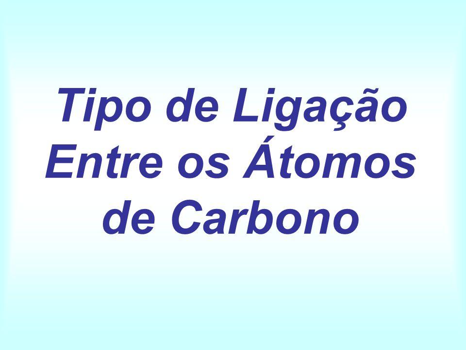 Tipo de Ligação Entre os Átomos de Carbono