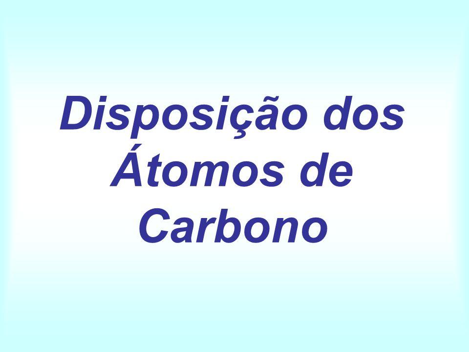 Disposição dos Átomos de Carbono