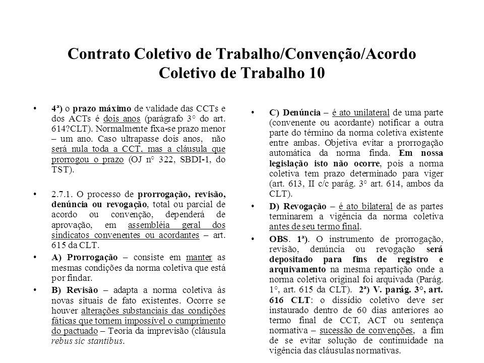 Contrato Coletivo de Trabalho/Convenção/Acordo Coletivo de Trabalho 10