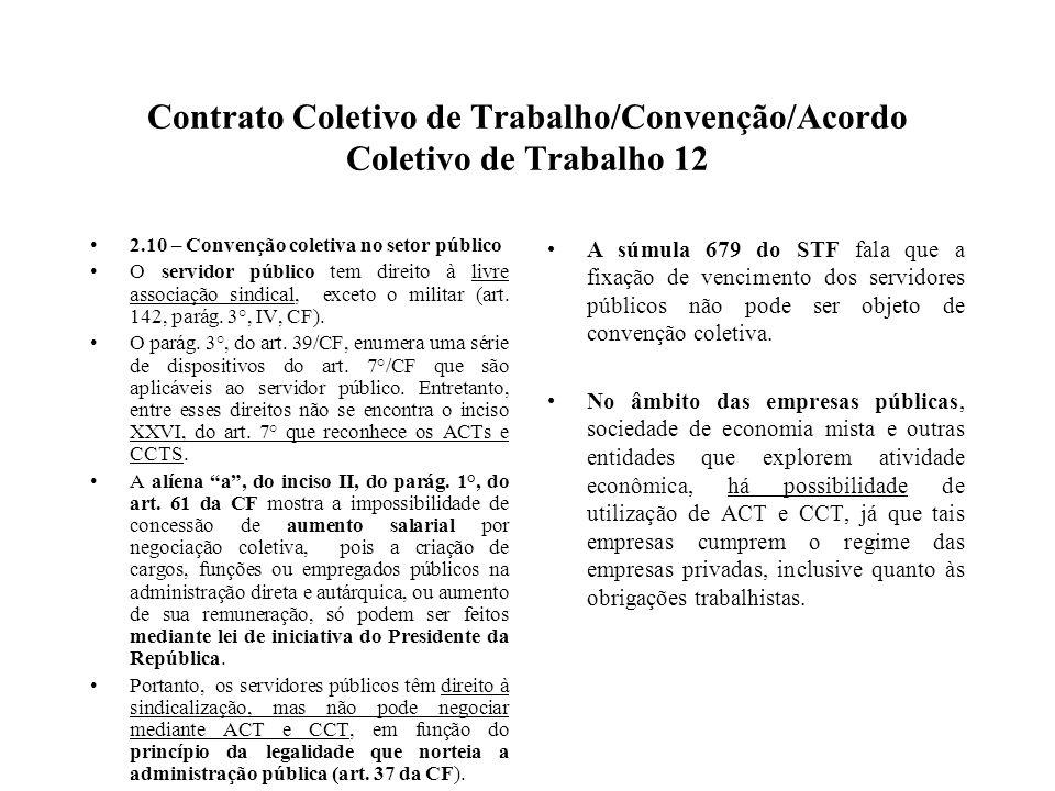 Contrato Coletivo de Trabalho/Convenção/Acordo Coletivo de Trabalho 12