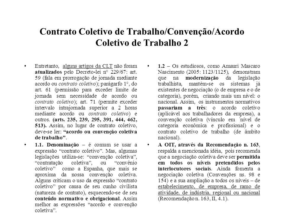Contrato Coletivo de Trabalho/Convenção/Acordo Coletivo de Trabalho 2