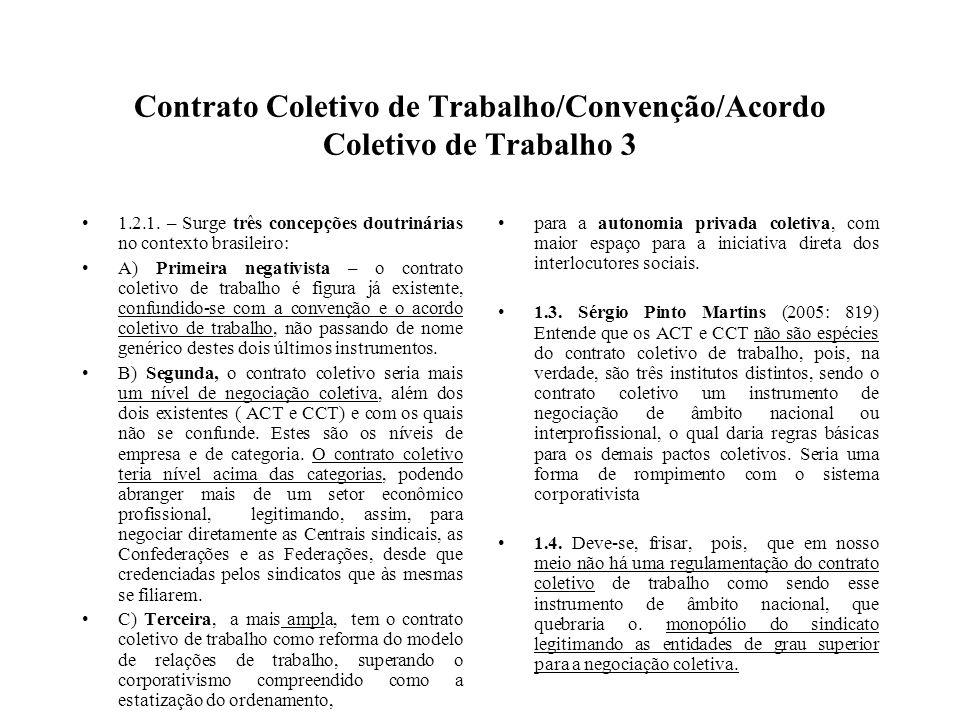 Contrato Coletivo de Trabalho/Convenção/Acordo Coletivo de Trabalho 3