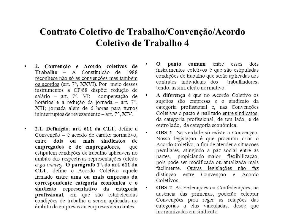 Contrato Coletivo de Trabalho/Convenção/Acordo Coletivo de Trabalho 4