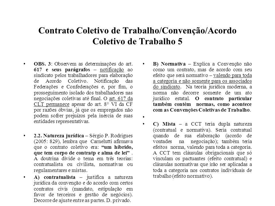 Contrato Coletivo de Trabalho/Convenção/Acordo Coletivo de Trabalho 5