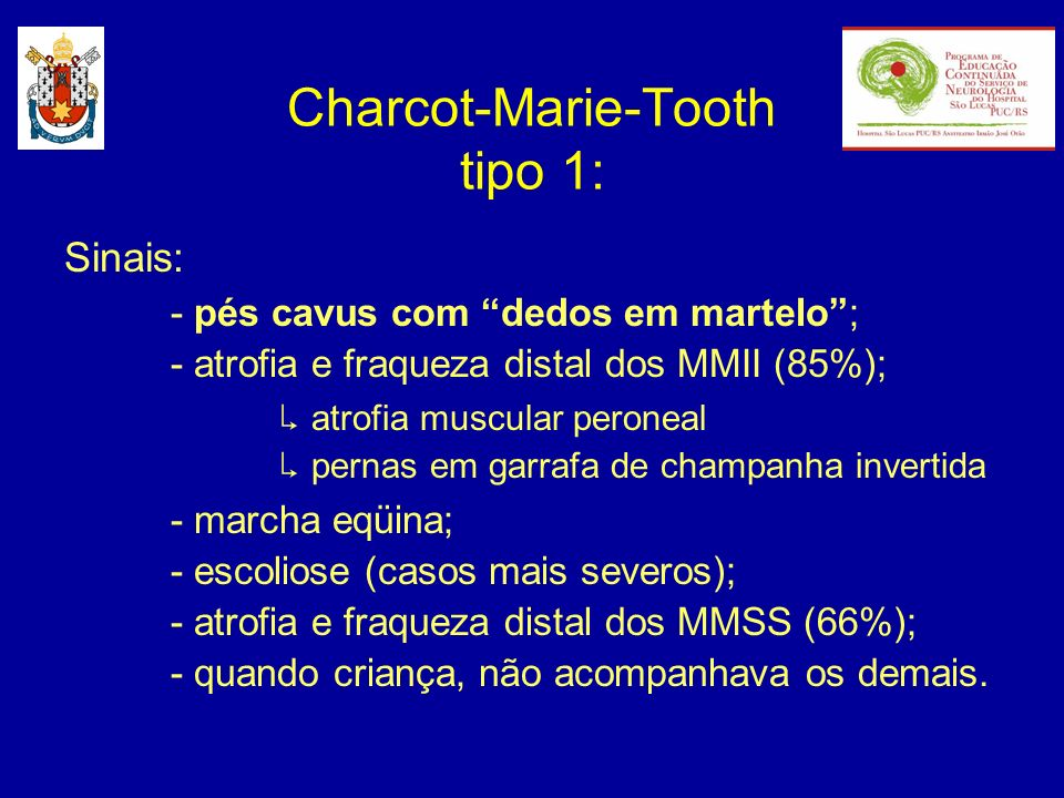 Charcot-Marie-Tooth tipo 1: