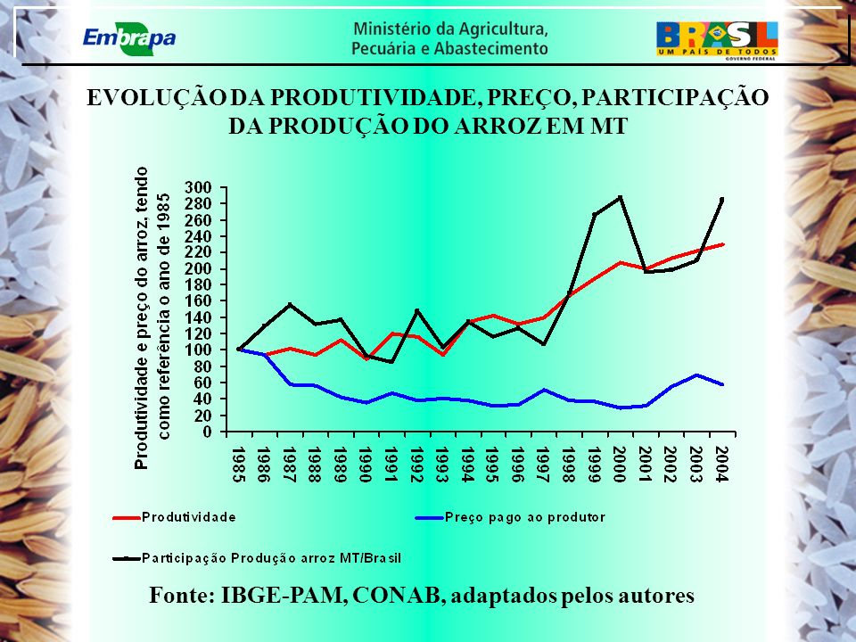 Fonte: IBGE-PAM, CONAB, adaptados pelos autores