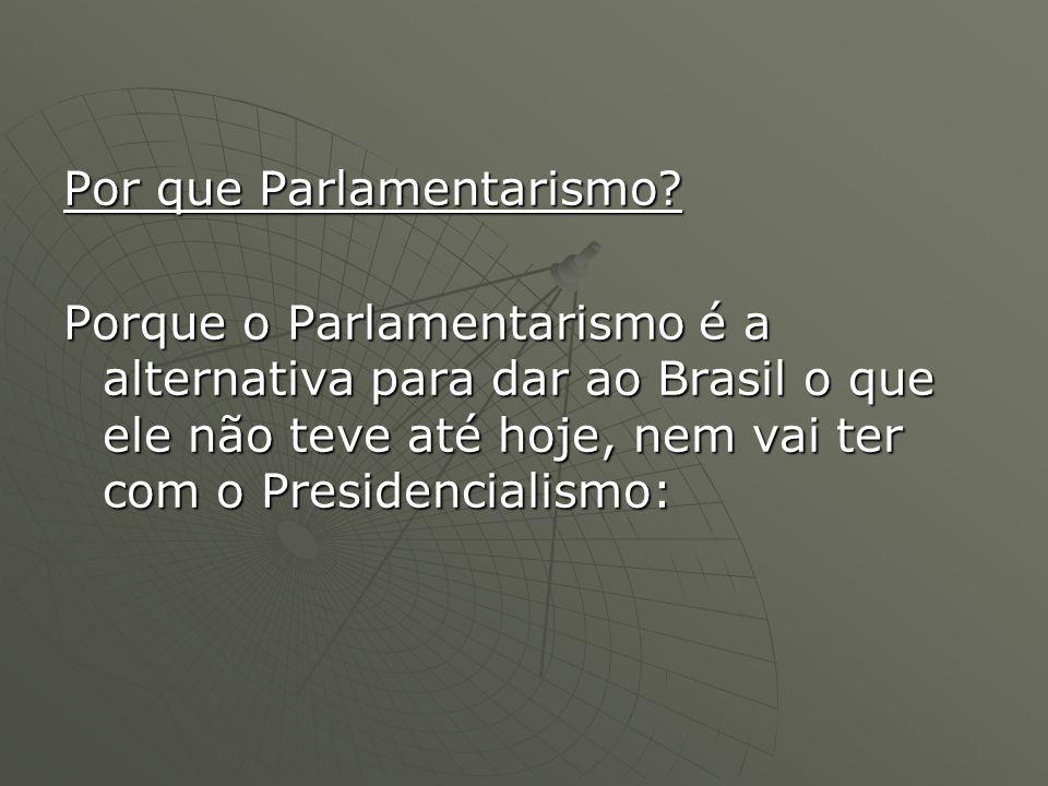 Por que Parlamentarismo