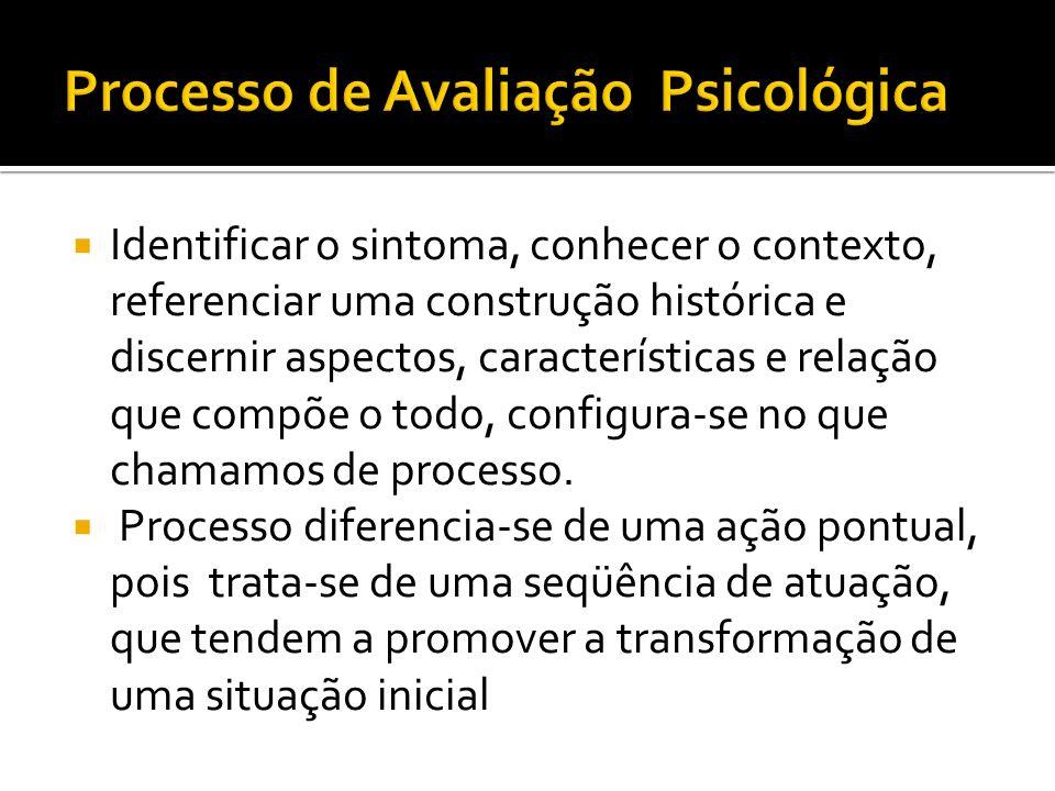Processo de Avaliação Psicológica