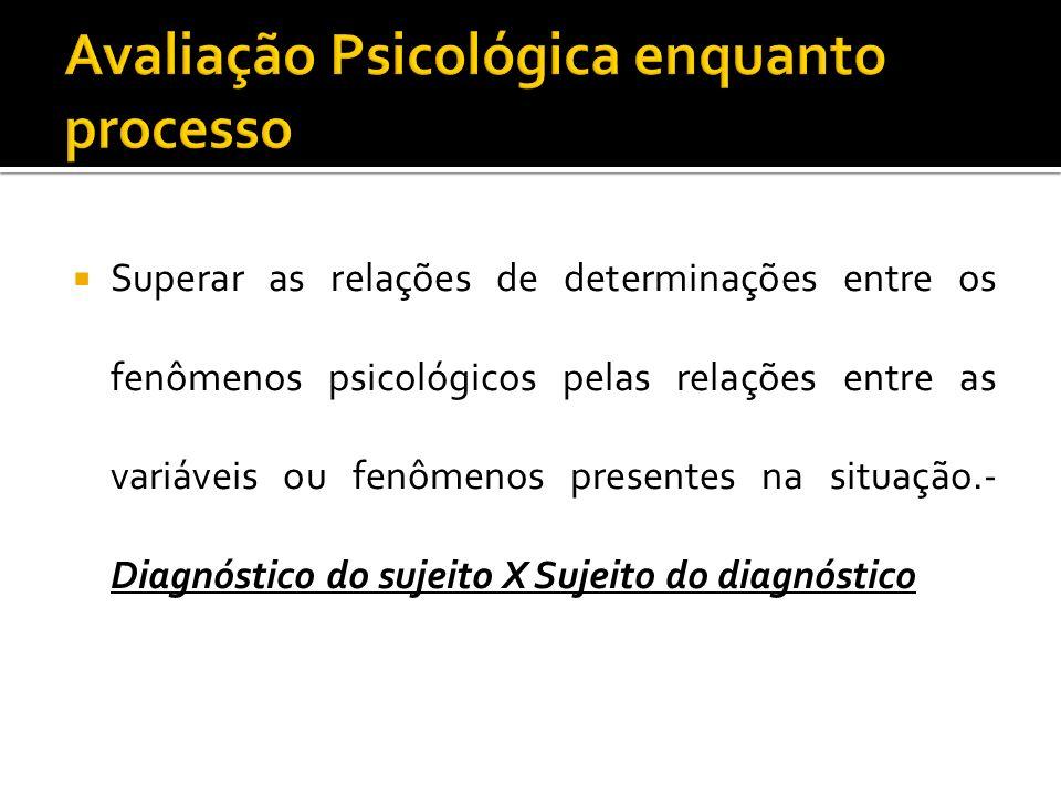 Avaliação Psicológica enquanto processo