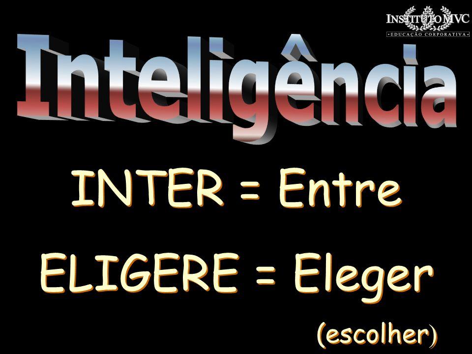 Inteligência INTER = Entre ELIGERE = Eleger (escolher)