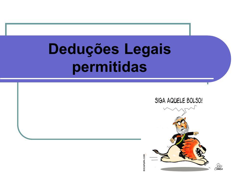 Deduções Legais permitidas