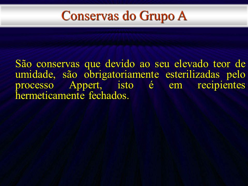 Conservas do Grupo A