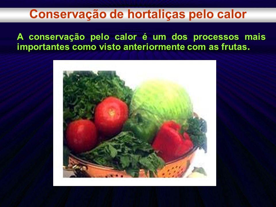 Conservação de hortaliças pelo calor