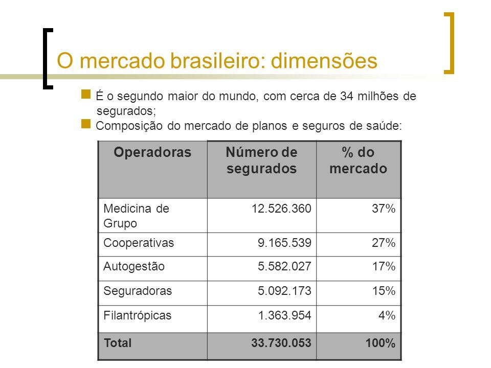 O mercado brasileiro: dimensões