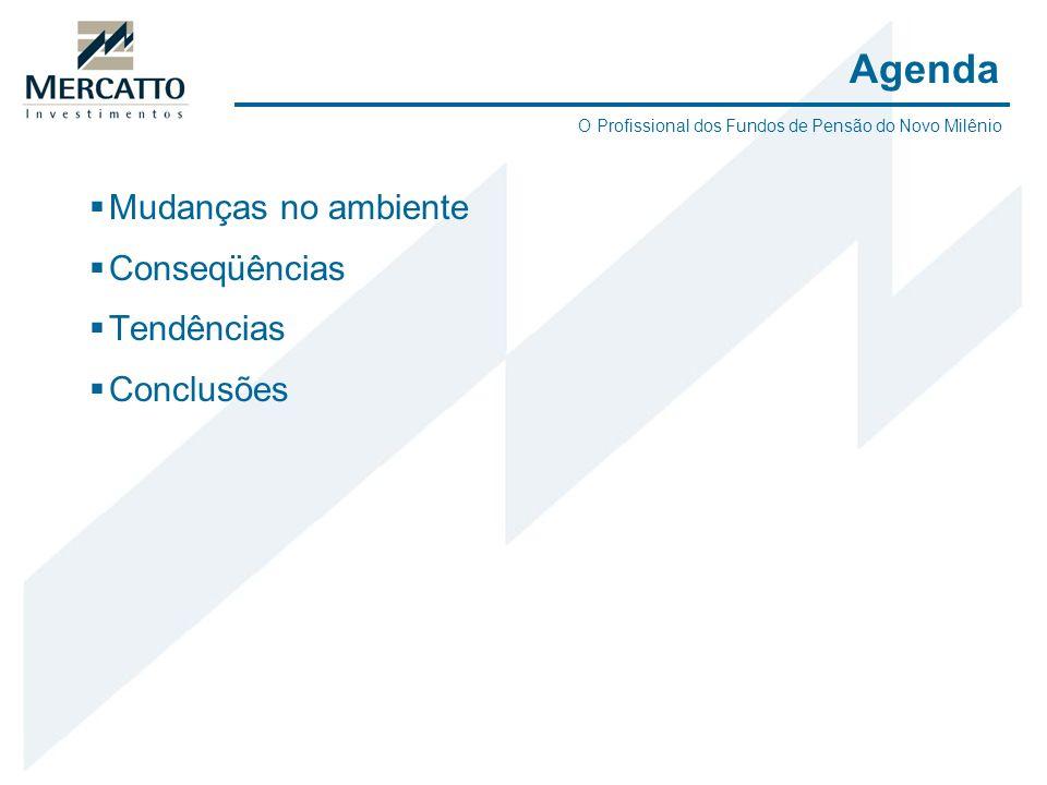 Agenda Mudanças no ambiente Conseqüências Tendências Conclusões