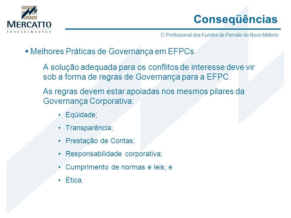 Conseqüências Melhores Práticas de Governança em EFPCs
