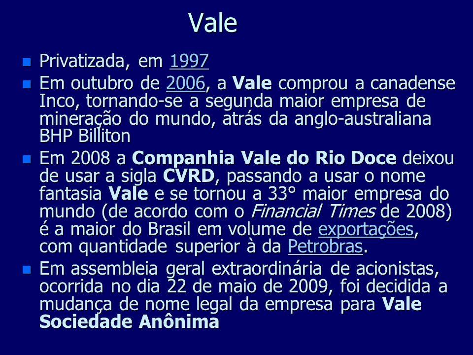 ValePrivatizada, em 1997.