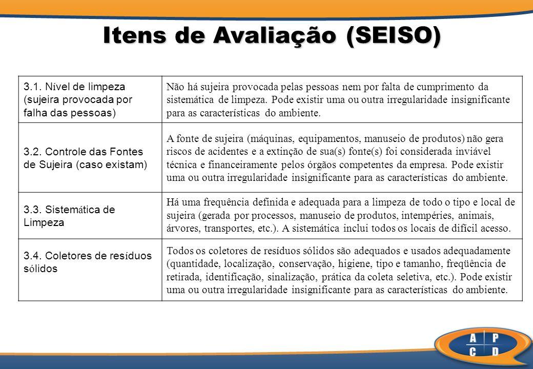 Itens de Avaliação (SEISO)