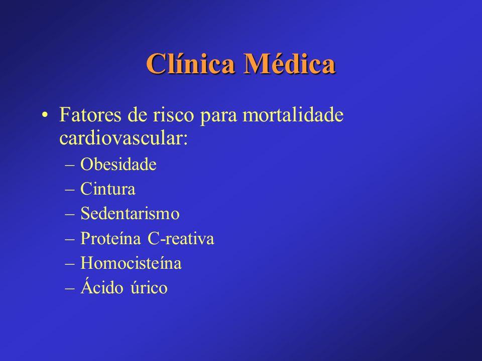 Clínica Médica Fatores de risco para mortalidade cardiovascular: