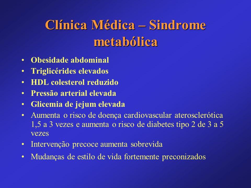 Clínica Médica – Sindrome metabólica