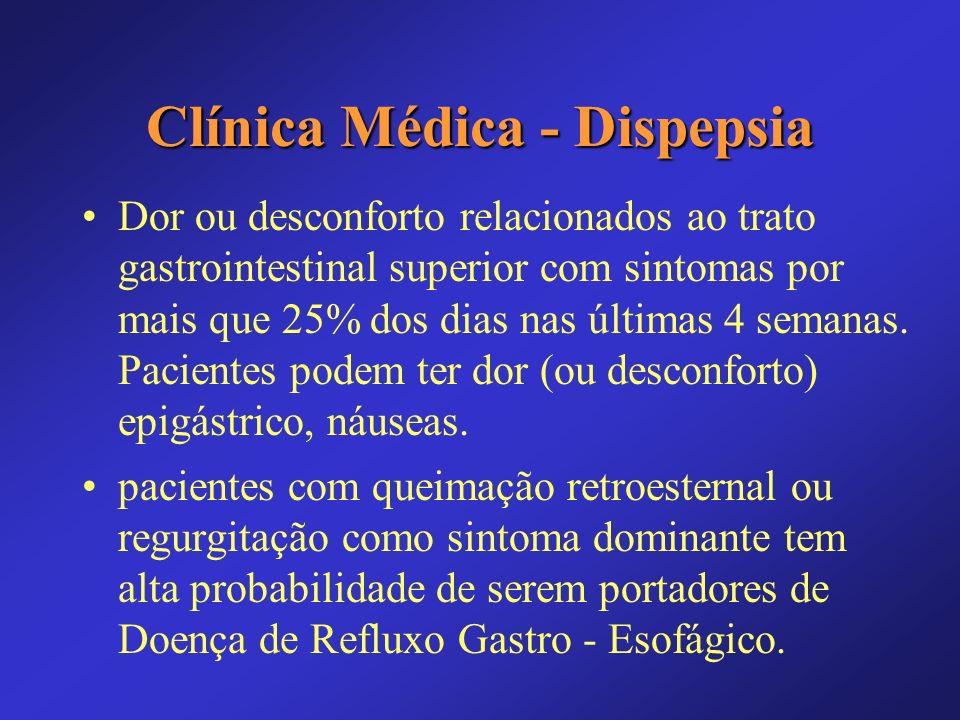 Clínica Médica - Dispepsia