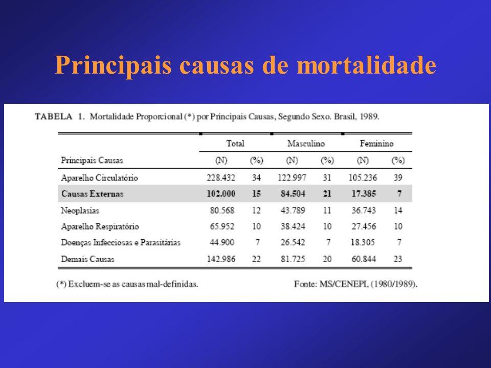 Principais causas de mortalidade